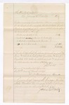 1876 March 20: Voucher, to James E. Cartez, for assisting in U.S. v. William A. Bowman, counterfeiting, by serving witness subpoenas on Thomas M. Jackson, Andrew Jackson, John S. Homer and Ed. Mooney; assisting in U.S. v. B.L. Olives, opening a letter, by serving subpoenas on Charles Cassidy and James Eberh; and gathering jurors for the March 1876 term; James F. Fagan, U.S. marshal