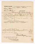 1876 April 21: Voucher, U.S. v. Richard Munn and Samuel Munn, larceny; includes cost of mileage; Frank Kirins, posse comitatus; served by Edmond Burgerin, U.S. deputy marshal; Stephen Wheeler, clerk
