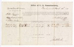 1876 March 23: Voucher, U.S. v. Willis Laurence, assault with intent to kill in the Indian Country; includes cost of per diem and mileage; Martin H. Berry and Elisha C. Berry, witnesses; John M. Peck, commissioner