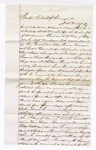 1876 May 9: Letter, from J.S. Vandegriff, in U.S. v. Sam Keeps, violating internal revenue laws, Toney Gallagher and Lewis Carnett, posse comitatus; Stephen Wheeler, clerk