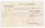 1876 March 25: Voucher, U.S. v. Martin Dial, violation of internal revenue laws; includes cost of per diem and mileage; John Panther, Ned Hogshooter, and James J. Sevier, witnesses; Stephen Wheeler, commissioner