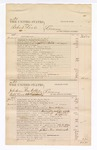 1876 March 25: Voucher, U.S. v. Robert Love, larceny; U.S. v. John Mann, Thomas Webber, Robert Love, and William Albert, larceny; U.S. v. William Albert and Robert Love, larceny; U.S. v. James Hogshooter (alias James J. Sevier), larceny; includes cost of court fees