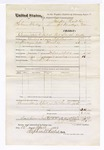 1876 April 22: Voucher, U.S. v. Solemon Mackey, committed to jail at Fort Smith, Arkansas; includes cost of travel expenses, feeding one prisoner, and one guard; served by T.A. Teryman, U.S. deputy marshal; John M. Peck, commissioner; Stephen Wheeler, clerk; William Boone, guard