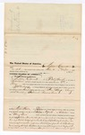 1876 May 8: Voucher, to Lewis Carnett, of Fort Smith, Arkansas, for assisting J.S. Vandegriff, U.S. deputy marshal, in U.S. v. Sam Keys, violating internal revenue laws; Stephen Wheeler, clerk; James F. Fagan, U.S. marshal