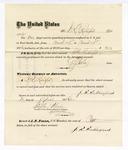 1876 April 25: Voucher, to J.R. Rutherford, for services guarding prisoners in U.S. jail; G.S. Peirce, jailor; Stephen Wheeler, clerk; J.F. Fagan, U.S. marshal