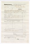 1876 April 30: Voucher, U.S. v. Ab. Cox, committed to jail at Fort Smith, Arkansas; includes cost of warrant, feeding one prisoner, and mileage; John Kemp and R.A. Donnelley, posse comitatus; served by T.A. Teryman, U.S. deputy marshal; John M. Peck, commissioner