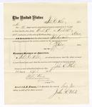 1876 April 24: Voucher, to John C. White, for service guarding prisoners in U.S. jail; G.S. Peirce, jailor; Stephen Wheeler, clerk; J.F. Fagan, U.S. marshal