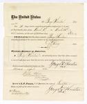 1876 April 24: Voucher, to George Thornton, for service guarding prisoners in U.S. jail; G.S. Peirce, jailor; Stephen Wheeler, clerk; J.F. Fagan, U.S. marshal