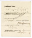 1876 April 12: Voucher, to D.M. Kavanaugh, for service guarding prisoners in U.S. jail; G.S. Peirce, jailor; Stephen Wheeler, clerk; J.F. Fagan, U.S. marshal