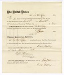 1876 April 24: Voucher, to Duval Rapley, for service guarding prisoners in U.S. jail; G.S. Peirce, jailor; Stephen Wheeler, clerk; J.F. Fagan, U.S. marshal