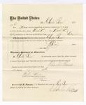 1876 April 24: Voucher, to Charles Burns, for service guarding prisoners in U.S. jail; G.S. Perice, jailor; Stephen Wheeler, clerk; J.F. Fagan, U.S. marshal