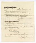 1876 April 24: Voucher, to Argyle Quesenbury, for service guarding prisoners in U.S. jail; G.S. Peirce, jailor; Stephen Wheeler, clerk; J.F. Fagan, U.S. marshal