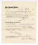 1876 April 24: Voucher, to Robert Freitzhenry, for service guarding prisoners in U.S. jail; G.S. Peirce, jailor; Stephen Wheeler, clerk; J.F. Fagan, U.S. marshal