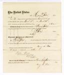 1876 April 12: Voucher, to Harry M Potter, for service guarding prisoners in U.S. jail; G.S. Peirce, jailor; Stephen Wheeler, clerk; J.F. Fagan, U.S. marshal