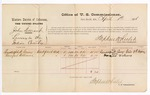1876 April 01: Voucher, U.S. v. John Durant, larceny; includes cost of per diem and mileage; Randolph W. Casey and Hausford Williams, witnesses; Stephen Wheeler, commissioner