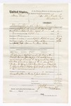 1876 April 20: Voucher, U.S. v. Henry Love, manslaughter in the Indian County; includes cost of travel expenses, feeding one prisoner, and two guards; John Foreman and Henry Betts, guards; served by J.S. Vandegriff, U.S. deputy marshal; John M. Peck, commissioner