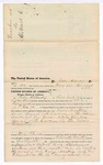 1876 April 25: Voucher, to Tobe Alberty, of Fort Smith, Arkansas, for assisting J.T. Cox Jr., U.S. deputy marshal, in U.S. v. Henry Armstrong, et. Al, larceny and U.S. v. One Bowles and John Van Ness, larceny; Stephen Wheeler, commissioner
