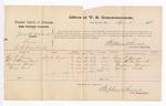 1876 April 04: Voucher, U.S. v. James B. McDowell, larceny; includes cost of per diem and mileage; Levi F. James, William McHenry Morris, Benjamin Harper, and George Woods, witnesses; Stephen Wheeler, commissioner