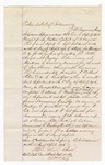 1876 April 28: Voucher, U.S. v. Sam Brown, larceny; attached is a written version of voucher; includes cost of mileage, feeding one prisoner, and one guard; Samuel Jacobs, guard; Hugh Tumsbly, subpoenaed witness; served by T.A. Teryman, U.S. deputy marshal; John M. Peck, commissioner; Stephen Wheeler, clerk