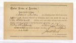 1876 April 3: Bond for defendant, U.S. v. William Withers, passing counterfeit money; William McKin and David Childers, sureties with notes of surety attached; John M. Peck, commissioner
