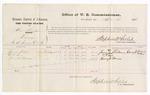 1876 April 12: Voucher, U.S. v. Albert Thompson, larceny; includes cost of per diem and mileage; James Shelton, O.P. Love, and Henry C. Barens, witnesses; Stephen Wheeler, commissioner