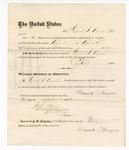 1876 April 25. Voucher, to Howard S. Mayers, for service guarding prisoners in U.S. jail; G.S. Peirce, jailor; Stephen Wheeler, clerk; J.F. Fagan, U.S. marshal