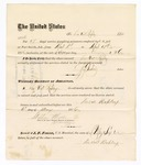 1876 May 6: Voucher, to Duval Rapley, for service guarding prisoners in U.S. jail; G.S. Peirce, jailor; Stephen Wheeler, clerk; J.F. Fagan, U.S. marshal;