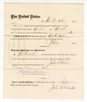 1876 May 06: Voucher, to John C. White, for service guarding prisoners in U.S. jail; G.S. Peirce, jailor; Stephen Wheeler, clerk; J.F. Fagan, U.S. marshal