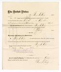 1876 May 06: Voucher, to George S. Peirce, for service as jailor to U.S. jail; Stephen Wheeler, clerk; J.F. Fagan, U.S. marshal