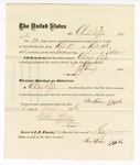1876 May 06: Voucher, to Christian Epple, for service guarding prisoners in U.S. jail; G.S. Peirce, jailor; Stephen Wheeler, clerk; J.F. Fagan, U.S. marshal