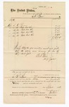 1876 September: Voucher, to B. Baer, includes cost of brooms and oil; G.S. Peirce, jailor; James F. Fagan, U.S. marshal