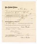 1876 May 6: Voucher, to Charles Munder, for service guarding prisoners in U.S. jail; G.S. Peirce, jailor; Stephen Wheeler, clerk; J.F. Fagan, U.S. marshal