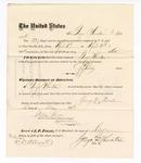 1876 May 6: Voucher, to George Thornton, for service guarding prisoners in U.S. jail; G.S. Peirce, jailor; Stephen Wheeler, clerk; J.F. Fagan, U.S. marshal