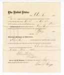 1876 May 06: Voucher, to Charles Burns, for service guarding prisoners in U.S. jail; G.S. Peirce, jailor; Stephen Wheeler, clerk; J.F. Fagan, U.S. marshal