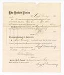 1876 May 6: Voucher, to Argyle Quensbury, for service guarding prisoners in U.S. jail; G.S. Peirce, jailor; Stephen Wheeler, clerk; J.F. Fagan, U.S. marshal