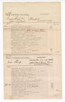 1876 May 4: Voucher, U.S. v. George West and John Leflone, murder in the Indian Country; U.S. v. John Sharp, indictment May Term 1875 for violation of U.S. internal revenue laws; U.S. v. John Anderson, larceny in the Indian County; U.S. v. Joshua Wade, larceny in the Indian Country; includes cost of court fees