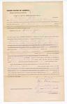 1876 October 12: Bond for defendant, U.S. v. William Yates, violating internal revenue laws of the U.S.; Thomas Marcus and James K. Barnes, surety; Stephen Wheeler, commissioner