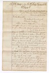 1876 November 15: Letter, 2nd Veto message on the 2nd Lovely Rogers Bill; Charles Thompson, principal chief Cherokee Nation