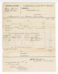 1876 November 20: Voucher, U.S. v. Henry Hoods and George Gunter, assault; Jacob Baer, John Gunther, and George Brewer, witnesses; A.A. Barker, U.S. deputy marshal; Stephen Wheeler, clerk