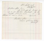 1876 November 30: Voucher, includes cost of bankruptcy payment; Hubbard Stone, assignee of D.A. McKibben