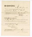1877 January 14: Voucher, to Jerry Washington, for service guarding prisoners in U.S. jail; G.S. Peirce, jailor; Stephen Wheeler, clerk; J.F. Fagan, U.S. marshal