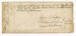 1876 December 13: Envelope, contained list of Petit Jury to serve at the May term 1877; Zara L. Cotton, Ruphoul M. Johnson, and William F. Jones, jury commissioners; Stephen Wheeler, clerk
