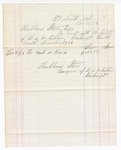 1876 December 31: Voucher, includes cost of bankruptcy payment; Hubbard Stone, assignee of D.A. McKibben