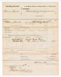 1877 September 12: Voucher, U.S. v. William Buter, grand jury subpoena; Franz Hase and John J. Kelley, witnesses; served by J.H. Smith, U.S. deputy marshal; Stephen Wheeler, clerk