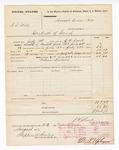 1877 August 23: Voucher, U.S. v. A.S. Willis, contempt of court; includes cost of mileage, feeding one prisoner, and travel expenses; William Dickson, posse comitatus; D.P. Upham, U.S. marshal; Stephen Wheeler, clerk