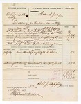 1877 September 5: Voucher, U.S. v. One Jones (alias Cody), larceny in the Indian County; includes cost of mileage, feeding one prisoner, and travel expenses; H.C. Paine, witness; Bass Reeves, posse comitatus; Buck Perryman, guard; served by Robert J. Topping, U.S. deputy marshal; Stephen Wheeler, clerk