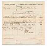 1877 August 02: Voucher, U.S. Joshua Wade, rape; includes cost of mileage, feeding one prisoner, and travel expenses; Isaac Foster, posse comitatus; Lizzie Neall and Jack Fletcher, witnesses; served by J.H. Smith, U.S. deputy marshal; Stephen Wheeler, commissioner