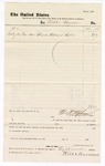 1877 July 31: Voucher, to Webb and Burrows; includes cost of blank witness rolls; D.P. Upham, U.S. marshal