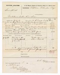 1877 September 3: Voucher, U.S. v. Lewis Hielel, violation internal revenue law; includes cost of mileage, feeding one prisoner, and travel expenses; William Crone, guard; Doctor Warren and Elvis Clurck, witnesses; served by W.R. Ayers, U.S. deputy marshal; Stephen Wheeler, commissioner