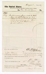 1877 September 19: Voucher, to Fort Smith House; includes cost of 52 meals for Petit Jury during court in U.S. v. J.S. Williams; D.P. Upham, U.S. marshal; John Patterson; Stephen Wheeler, clerk; Mary Coons